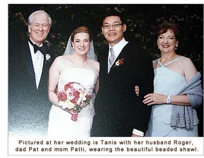 Wedding photo of Tanis and her husband