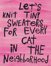 knit tiny sweaters for ever cat