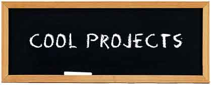 chalkboard with 'Cool Projects' written