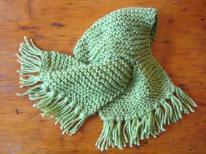 photo of green loop scarf