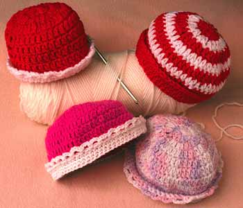 examples of crochet caps