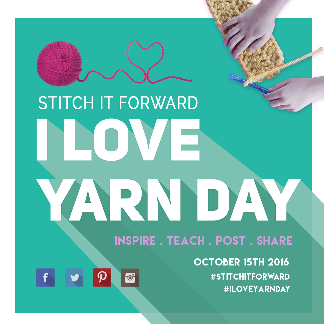 1080x1080 Instagram I Love Yarn Day banner