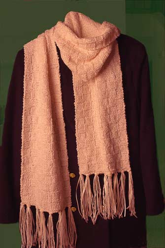 picture of 'fringed with ribbon' scarf